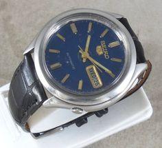 Original VINTAGE SEIKO 5 Automatic 17J Japan 6309-8800 Running Watch D&D@3#w1850 #Seiko