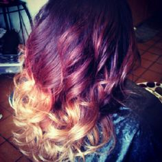 Healthy Hair Is Beautiful Hair..: Red hair color w// blonde ombre