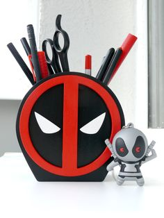 This item is unavailable Wood Pen Holder, Pencil Holder, Pen Holders, Deadpool, Hippie Painting, Hippy Gifts, Wood Gifts, Desk Organization, Biscuit