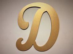 large letter wall decor wooden cut out letter d gold other letters finishes and fonts available - Letter Wall Decor
