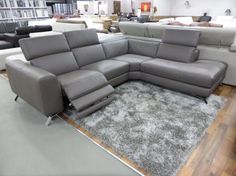 Natuzzi Editions Artisan Electric Reclining Chaise Corner Sofa Taupe |  Furnimax Brands Outlet