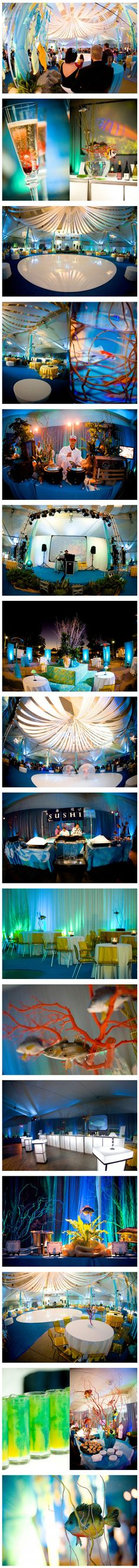 Earl Warren Showgrounds | Under the Sea Corporate Event | Alegria by Design | alegriabydesign.com