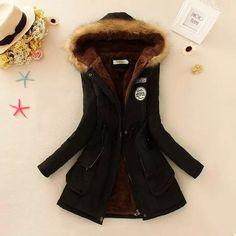 S-3XL 2015 new Winter Womens Parka Casual Outwear Military Hooded Coat Winter Jacket Women Fur Coats Woman Clothes manteau femme