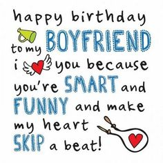 Happy Birthday Boyfriend Quotes Awesome Cute Birthday Wishes Happy Birthday Wishes For Him, Birthday Message For Boyfriend, Best Birthday Quotes, Birthday Wishes Funny, Birthday For Him, Happy Birthday Images, Birthday Love, Birthday Memes, Birthday Recipes