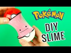 DIY Pokemon Go Pokeball Slime | How to make Pokeball Ditto Slime - YouTube