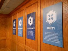 Foamboard signs for Oasis Church fabricated and installed by 12-Point SignWorks, designed by Birdsong Creative