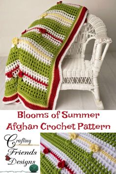 Beautiful, light, comfy Blooms of Summer Afghan crochet pattern by Crafting Friends Designs Customize to your desired size from Infant to King Knit Or Crochet, Crochet Gifts, Free Crochet, Crochet Pillow, Afghan Crochet Patterns, Knit Patterns, Crochet Afghans, Knitting Designs, Crochet Designs