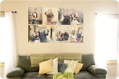 Wall display of MY family! Four 16x20's and two 20x30's. I'm in love!!