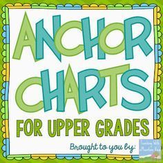 A collection of 40+ anchor charts from Teaching With a Mountain View for Grades 3 and up! Enjoy!
