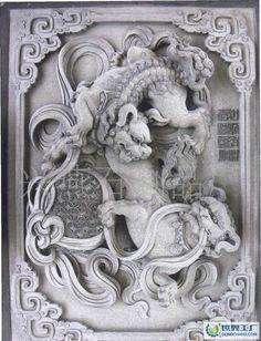 古兽动物雕刻浮雕/龙凤麒麟浮