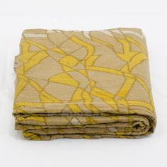 Yellow Vintage Kantha Quilt Bedspread Antique Kantha by Moomal, $42.99