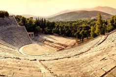 Sanctuary of Asklepios at Epidaurus, Greece Ancient Greek Theatre, Contemporary Plays, Hellenistic Period, Acoustic Design, Festivals Around The World, Group Tours, Archaeological Site, Ancient Greece, Oh The Places You'll Go