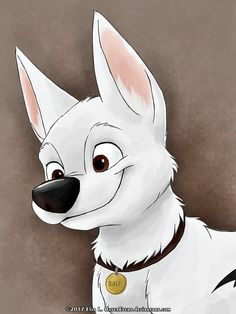 Bolt by RavenEvert.deviantart.com on @DeviantArt #disney #dog #damuro #bolt #waltdisney A drawing that I started a long time ago of Bolt Enjoy it!