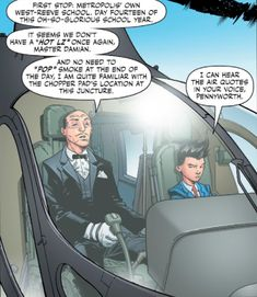 >> I still can't get over the fact Bruce actually let Damian get a helicopter to school everyday 😂 Robin Dc, Batman Robin, Batman Batman, Batman Stuff, Batman Arkham, Damian Wayne, Nightwing, Batgirl, Jon Kent