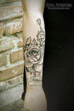 Tattoo Lust: Floral Tattoos | Fonda LaShay // Design → more on fondalashay.com/blog