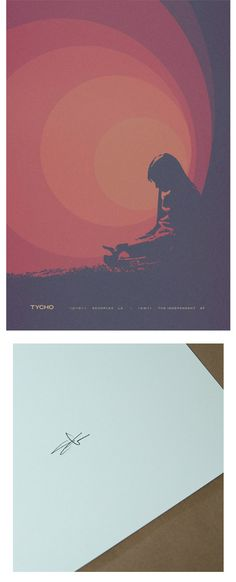 December - Standard Edition Print by Tycho.  Digital thermal Tycho print on Finch 100# cover stock.  Hand signed on the back.