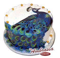 Peacock, 1/2 Sheet Cake | Ambrosia Bakery