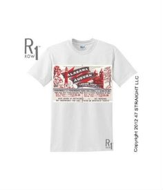 1964 Alabama football ticket shirt made from an authentic Alabama football ticket. http://www.shop.47straightposters.com/1964-ALABAMA-Football-Ticket-Shirt-64ALAUB.htm