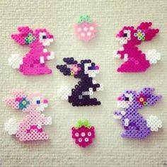 * * * The idea box of the I & # workshop * * *: DIY Easter – Kreativ hugskot – Hama Beads Hamma Beads 3d, Pearler Beads, Fuse Beads, Hama Beads Design, Diy Perler Beads, Perler Bead Art, Hama Beads Animals, Beaded Animals, Pearler Bead Patterns