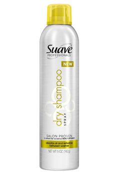Suave Professionals Dry Shampoo Spray... It works better than the high dollar salon picks. You won't be disappointed - spray on roots that look oily. Blow dry some fluff back into it, flat iron, curl or put up and you're done! True Story!!