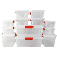 62% off on Otima 12 PC Lock Box Mega Containers | OneDayOnly.co.za Daily Deals Sites, Deal Sites, Container, The Originals, Canisters