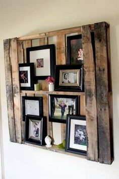 DIY Möbel aus Europaletten – 101 Bastelideen für Holzpaletten - holz paletten möbel selbst basteln DIY ideen fotos bilderrahmen