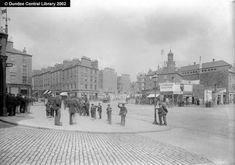 Union Street, Dundee - Ref: WC0654  This photograph shows the southern end of Dundee's Union Street from the front of Caledonian Railway Station with Whitehall Crescent leading to the east and right.  It was probably taken in 1898, when demolition started in the area to make way for the improvements of Whitehall Crescent, including the erection of the new Tay Hotel, to designs by Robert Hunter, on the site occupied by Fairweathers.