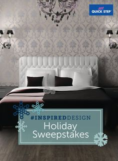 I just entered Quick•Step's #InspiredDesign Holiday Sweepstakes for a chance to win 1 of 6 $250 Visa Gift Cards! You can enter by 12/16 at http://www.quickstepstyle.com/quick-step-spotlight/inspired-design-sweepstakes.