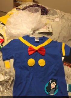 in making Toddler Halloween Costumes, Halloween 2017, Halloween Ideas, Donald Duck Costume, Mickey Costume, Eve Costume, Run Disney, Disney Fashion, Disney Style