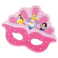 Oh My Fiesta! in english Disney Princess Birthday, Barbie Birthday, Princess Theme, Princess Cupcake Toppers, Prince Party, Party Props, 4th Birthday Parties, Princesas Disney, Mask For Kids