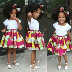Ankara Styles For Kids; Little Girls And Baby Girls Ankara Styles Baby African Clothes, African Dresses For Kids, African Babies, African Children, African Inspired Fashion, Latest African Fashion Dresses, African Print Fashion, Africa Fashion, African Attire