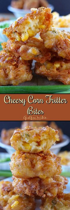 These Cheesy Corn Fritter Bites are tasty appetizers that are fried to perfection, seasoned just right and are crispy and crunchy. A favorite corn fritter appetizer recipe.