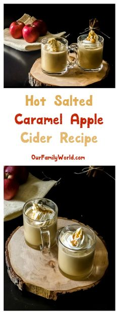 Salted Caramel Apple Cider: One of my favorite non-alcoholic hot drinks for winter! It's perfect for a Christmas party too!