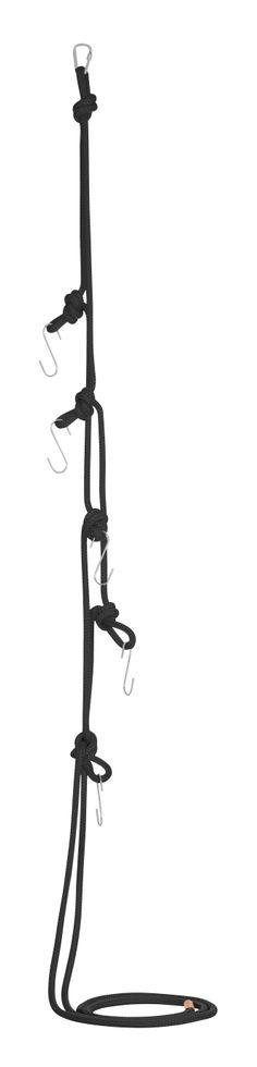 Cabide com corda e mosquetão