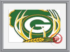 Green Bay Packers Football Cross Stitch Pattern, Instant Download PDF