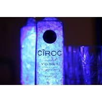 Luminária Garrafa Led Azul Cîroc Vodka - Deecor