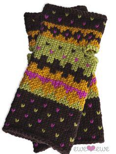 Fair Isle Wrist Warmers Knitting Pattern | Ewe Ewe Yarns