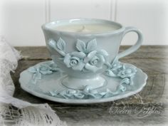 Gorgeous & Shabby ~ Tea Cup Candle