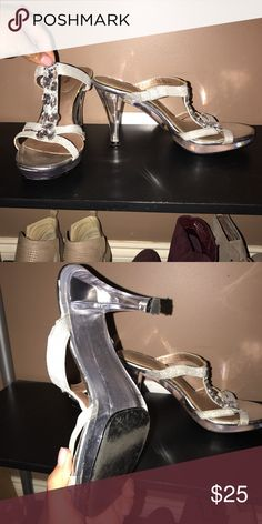 Prom/pageant heels Super cute! Worn once! Shoes Heels