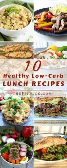 10 Healthy Low-Carb Lunch Recipes - Diabetes friendly sandwiches, salads, fish…