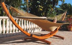 The Caribbean Cypress Arc Hammock Stand