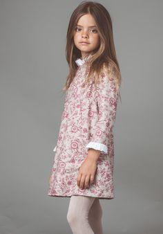 vestido cervantes flor grana