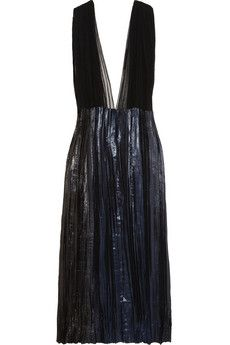 Haider Ackermann Cotton-tulle and silk-blend lamé gown | NET-A-PORTER-I love this when it is belted