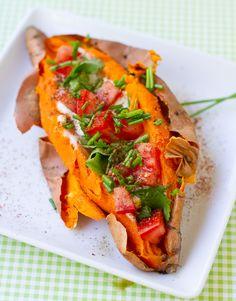 Skinny Stuffed Sweet Potatoes.  - Healthy. Happy. Life.