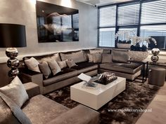 the best set of luxury living room decorating ideas The post big living room appeared first on Homes decoration. Big Living Rooms, Living Room Pillows, Home Living Room, Living Room Designs, Living Room Decor, Small Living, Interior Exterior, Interior Design, Luxury Interior