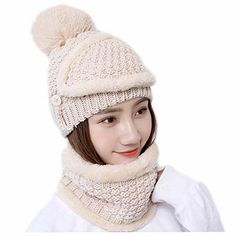 This winter slouchy beanie cap and scarf set are perfect for daily wearing  including indoors and outdoors activities. Size  One size fits most ab9b6541ae1e