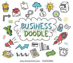 Set of business doodle on white background, download link https://www.shutterstock.com/image-vector/set-business-doodle-on-white-background-548763985?rid=454507