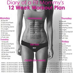 12 Week No-Gym Home Workout Plan - Diary of a Fit Mommy