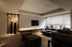 Living room design ideas inspiration and pictures Living Room Tv, Living Room Modern, Home And Living, Living Room Designs, Tv Wall Decor, Property Design, Apartment Design, New Homes, House Design
