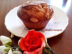 Συνταγές για διαβητικούς και δίαιτα: Μαφινς αμυγδάλου-βρώμης χωρίς ζαχαρη και βούτυρο!!... Muffin, Breakfast, Sweet, Desserts, Blog, Morning Coffee, Candy, Tailgate Desserts, Deserts